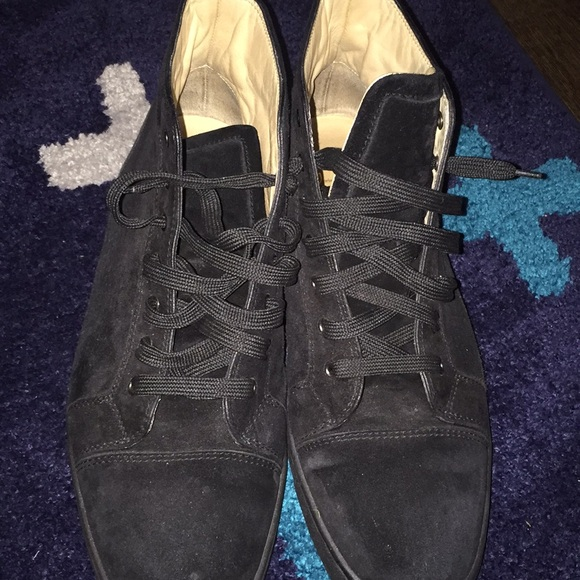 Men S Black Suede Louboutin Sneakers